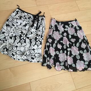 シェルレイ(Shell Ray)の花柄スカート まとめ売り(ひざ丈スカート)