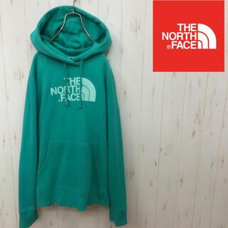 THE NORTH FACE - ノースフェイス ビックロゴパーカー エメラルドグリーン レディースM