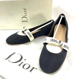 クリスチャンディオール(Christian Dior)の【新品】Dior J'Adior リボンフラットシューズ バレエシューズ 36(バレエシューズ)