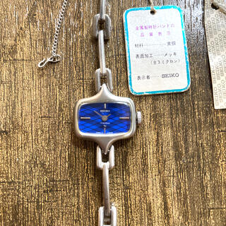 セイコー(SEIKO)のSEIKO WHITE 手巻きレディース 腕時計(腕時計)