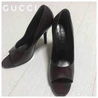 グッチ(Gucci)の人気!GUCCI グッチ オープントゥヒールパンプス サンダル23.5 36.5(ハイヒール/パンプス)