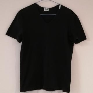 ドルチェアンドガッバーナ(DOLCE&GABBANA)のドルガバ Vネック Tシャツ 黒(Tシャツ/カットソー(半袖/袖なし))