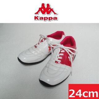 カッパ(Kappa)の【送料込】◆Kappa◆ ゴルフシューズ ピンク×ホワイト(シューズ)
