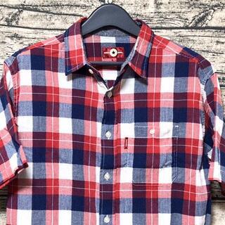 コンバース(CONVERSE)のCONVERSE ALL STAR コンバース 半袖チェックシャツ L 生地薄手(シャツ)