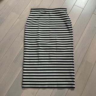 ジーユー(GU)のGU★ボーダータイトスカート(ひざ丈スカート)