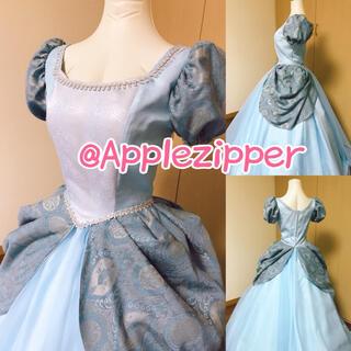シンデレラ ♡ ディズニープリンセス ハロウィン ドレス 仮装 ブルー(衣装一式)