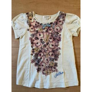 ジルスチュアートニューヨーク(JILLSTUART NEWYORK)のジルスチュアート 薔薇プリント Tシャツ 110(Tシャツ/カットソー)