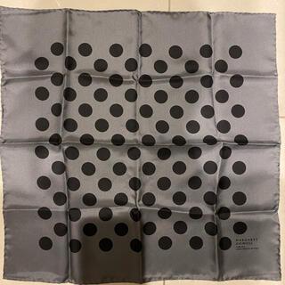 マーガレットハウエル(MARGARET HOWELL)の試着なし未使用 マーガレットハウエル ポルカドット シルクスカーフ(バンダナ/スカーフ)