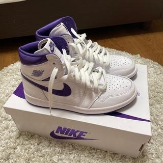 ナイキ(NIKE)のWMNS AIR Jordan 1 High OG court purple(スニーカー)