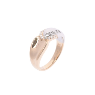 セリーヌ(celine)のセリーヌ  ダイヤ0.12ct コンビリング リング・指輪(リング(指輪))