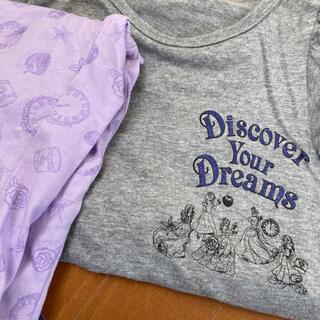 ジーユー(GU)のパジャマ 130 半袖 女の子 プリンセス(パジャマ)