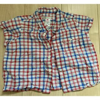 ボンポワン(Bonpoint)のボンポワン チェック 赤青 シャツ 2ans(シャツ/カットソー)