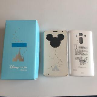 ディズニー(Disney)のディズニーモバイルDM-01G ホワイト(スマートフォン本体)
