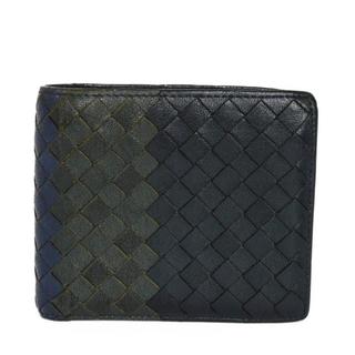 ボッテガヴェネタ(Bottega Veneta)のボッテガヴェネタ コンパクトウォレット トリコロール イントレチャート 財布(折り財布)