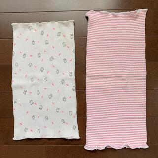 ニシマツヤ(西松屋)の腹巻き 赤ピンクしましま&うさぎ柄 2枚(その他)