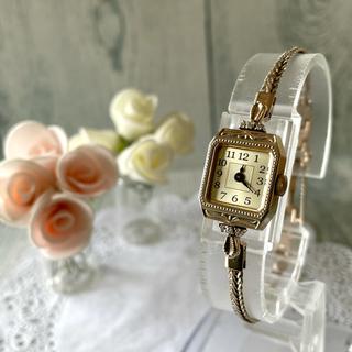 agete - 【美品】agete アガット クラシック 腕時計 0.057ct K10