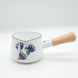 フジホーロー(富士ホーロー)の ムーミン ホワイトミルクパン 12㎝(鍋/フライパン)