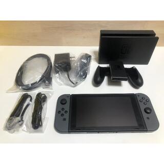 ニンテンドウ(任天堂)のNintendo Switch Joy-Con (L) / (R) グレー 美品(家庭用ゲーム機本体)