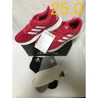 アディダス(adidas)の23〜25cm アディダス ランニングシューズ  コアレーサー ソックスセット(シューズ)