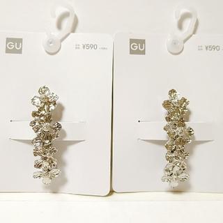 ジーユー(GU)のGU フラワーモチーフメタル ヘアクリップ 2個(バレッタ/ヘアクリップ)