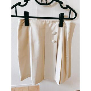 グローブ(grove)のgrove オフホワイト スカート(ひざ丈スカート)