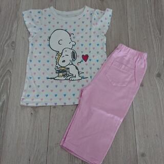 ジーユー(GU)のGU  スヌーピーパジャマ  110サイズ(パジャマ)