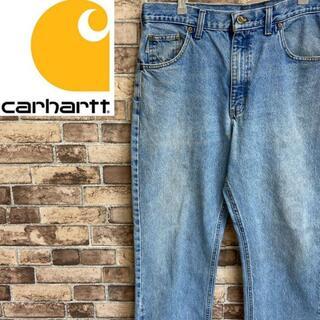 carhartt - ●カーハート● デニムパンツ ワイドジーンズ メキシコ製 サックスブルー