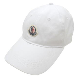 モンクレール(MONCLER)のモンクレール 帽子 キャップ コットン ホワイト白 40800073576(キャップ)