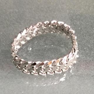 k18ホワイト ゴールド ビスマルク リング(リング(指輪))