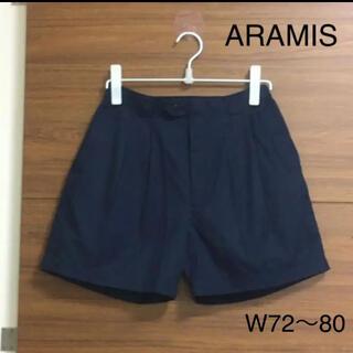 アラミス(Aramis)の美品 ARAMIS コットン チノ ショートパンツ 紺 レトロ ビンテージ(ショートパンツ)
