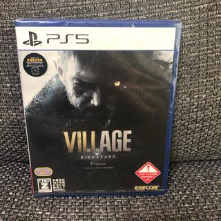 プレイステーション(PlayStation)のPS5  新品 バイオハザード ヴィレッジ Z Version 特典コード付き(家庭用ゲームソフト)