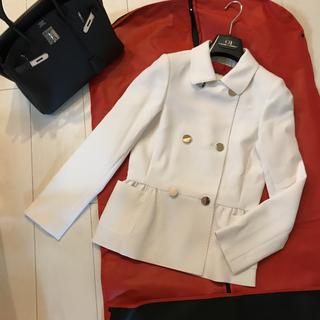 新品 希少【Carolina Herrera】デザインジャケット2 アイボリー