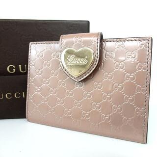 グッチ(Gucci)のグッチ マイクロGG シマ カードケース パテントレザー27-418(その他)