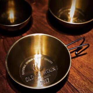 バリスティクス(BALLISTICS)の2個セット old mountain ゴールドシェラカップ 真鍮 (食器)