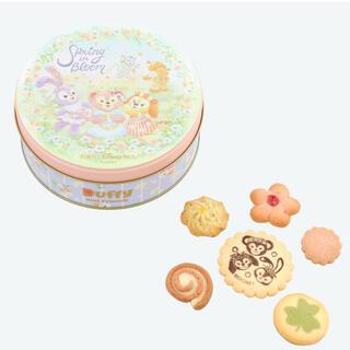 ダッフィー(ダッフィー)のアソーテッドクッキー缶 スプリングインブルーム ダッフィーフレンズ ダッフィ(菓子/デザート)