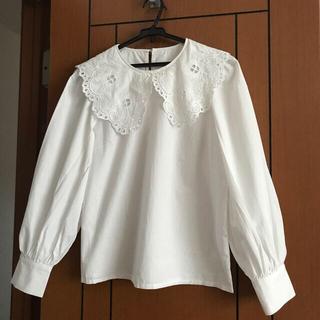 レトロガール(RETRO GIRL)のレトロガールの白い襟付きブラウス(シャツ/ブラウス(長袖/七分))