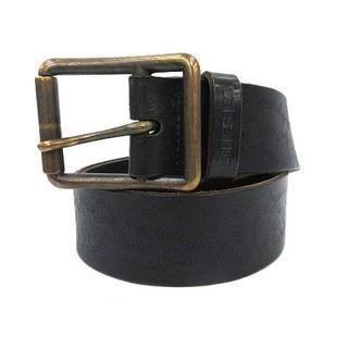 ディーゼル(DIESEL)のディーゼル DIESEL ベルト レザー 柄 型押し 80cm 黒 ブラック(ベルト)