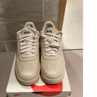 STUSSY NIKE AIR FORCE 1 LOW FOSSIL 25.5(スニーカー)