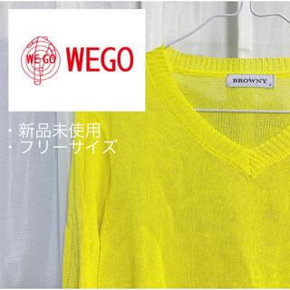 ウィゴー(WEGO)の【新品】バルーンスリーブVネックニット(ニット/セーター)
