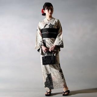 r022【浴衣3点セット】菊彩 フリーサイズ 新品未使用品(浴衣)