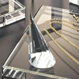 新品■クリスタル指輪スタンド小1個■業務用リングディスプレイ多面カットガラス透明(店舗用品)