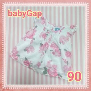 ベビーギャップ(babyGAP)のbabyGap トップス 90 花柄(ブラウス)