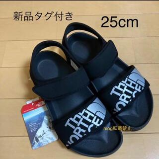 ザノースフェイス(THE NORTH FACE)の新品タグ付き☆ ノースフェイス 海外限定デザイン  ロゴサンダル 25.0cm(サンダル)