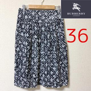 【BURBERRY】ロンドン サイズ36   シルク100%   フレアスカート