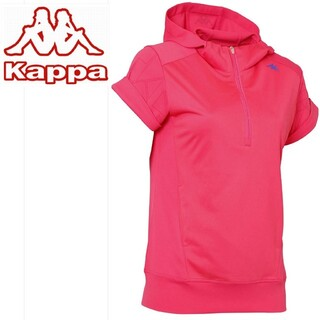 カッパ(Kappa)のkappa レディース パーカー 半袖シャツ Sサイズ(ウエア)
