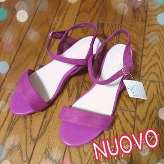 ヌォーボ(Nuovo)の新品 ヌォーボ サンダル フューシャピンク フィットサンダル ローヒール S(サンダル)