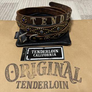 TENDERLOIN - 希少品! TENDERLOIN HTC PORTER ナロー ベルト 黒 青 L