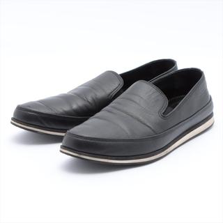 プラダ(PRADA)のプラダスポーツ  レザー 8.5 ブラック メンズ その他靴(その他)