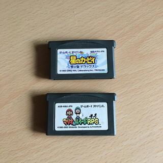 ゲームボーイ(ゲームボーイ)の星のカービィ  マリオ ゲームボーイ(携帯用ゲームソフト)