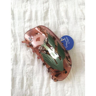 エディットフォールル(EDIT.FOR LULU)の【新品未使用】Winona Irene ヘアクリップ pink flower (バレッタ/ヘアクリップ)